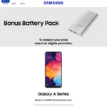Free 10,000mAh Fast Charging Silver Battery Pack with Purchase of Samsung A-Series Mobiles