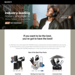 Win 1 of 3 Sony Prize Packs Worth Up to $2,948 or 1 of 5 Pairs of Sony WH-1000XM4 Headphones from Sony