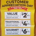 Domino's Customer Appreciation Day $2/$4/$6 Pizzas 2/12/17 12PM to 2PM (Selected Stores)