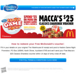 FREE McDonald's $25 Sharebox When You Spend $25 or More on Hasbro Games @ The Warehouse