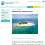 Win a Fiji Adventure Tour from Isic