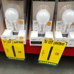 Luce Bella 7W LED Globe Light Bulb B22 470lmns only $1 @ Bunnings Grey Lynn
