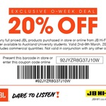 20% off JBL Items @ JB Hi-Fi