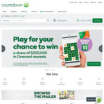 Spend $170 and Save $15 Online @ Countdown