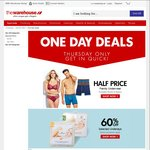 50% off Family Underwear and Evantair Oil Heaters, 60% off Maison d'Or Underlays + More @ The Warehouse [Today Only]