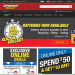 Spend $50 Get $10 off Online Only at SuperCheap Auto