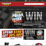 10% off $50 Spend, 15% off $100, 20% off $150 @ Supercheap Auto