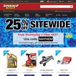 Super Cheap Auto - 25% off Sitewide + Free Click & Collect | SCA Tyre Shine 500g $3.75 [16/5+17/5]
