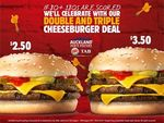 $2.50 Double Cheeseburgers and $3.50 Triple Cheeseburgers @ Burger King