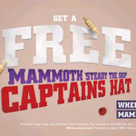 Free Captain's Hat (worth $24.95) with Purchase of 2 x 600ml Mammoth Iced Chocolate or Iced Coffee Drinks @ BP