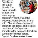 Win a Selection of CubaDupa Goodies from The Dominion Post