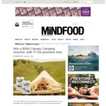 Win a $500 Canopy Camping Voucher from Mindfood