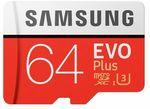 Samsung EVO PLUS 64GB Micro SD $19.99 @ Expert Infotech