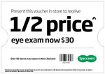 Half Price Eye Exam @ Specsavers