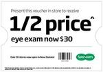 Half Price Eye Exam @ Specsavers