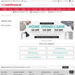Up To $50 off When You Spend $300 on Homewares @ The Warehouse