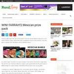Win a FARRAH'S Mexican Prize Pack from Rural Living