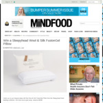 Win a Sleepyhead Wool & Silk FusionGel Pillow from Mindfood