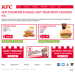 Zinger Combo $7; 3 Wicked Wings + Chips + Potato $4.99; Hot & Spicy Lunch $7 @ KFC Lincoln Rd, Manukau, Fairy Springs & Rotorua