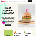 Nando's - 5000 Free Great Pretender Burger, Wraps or Pita Giveaway