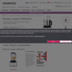 Kenwood FDM300SS Multipro Compact Food Processor $107.46 Shipped (Was $199.99) @Kenwood World