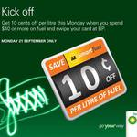 10c/Litre off Fuel (Monday 21st) @ BP with AA Smartfuel When You Spend $40+
