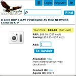 D-Link DHP-311AV Powerline Network Stater Kit - $37.95, Was $86 (Shipping from $5) @ Aquila Tech