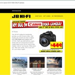 Canon EOS 100D - $449 @ JB Hi-Fi (Instant Deal/In Store Only)