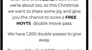 Free Hoyts Double Movie Pass With Mycoke Code Choicecheapies