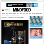 Win 1 of 8 Ultimate Finish Prize Packs from Mindfood