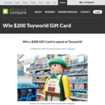 Win a $200 Toyworld Gift Card from Opinion Compare
