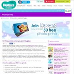 50 FREE Photo Prints @ Huggies
