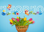 Grabone $1 for $10 Credit Expires Midnight 19th September (500 Available)