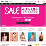Bendon Lingerie - 40% off Full-Priced Items Storewide, 1 Day Only