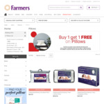 Buy 1 Get 1 FREE Pillows @ Farmers