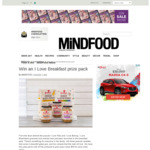 Win 1 of 5 I Love Breakfast Prize Packs from Mindfood