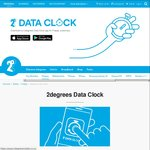 24 Hours of Free Unlimited Mobile Data with 2degrees Data Clock (Prepaid Only)