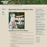 Mum Visits Free with Child Ticket Purchase on Mother's Day @ Hamilton Zoo