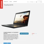 "ThinkPad E470 / 1TB HDD / 8GB RAM / 14"" FHD Screen $999 @ Lenovo"