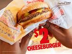 $2 Cheeseburgers @ Burger King
