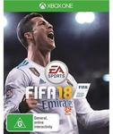Fifa18 for Xbone, PS4, Switch $39 @ JBHifi