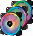 Corsair LL Series LL120 RGB 120mm Dual Light Loop RGB LED PWM 3x Fan Pack with Lighting Node Pro - NZD $64.43 Shipped @ Amazon