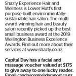 Win a $175 Shazly Experience Hair and Wellness Facial & Massage Voucher from The Dominion Post (Wellington)