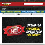 Spend $60+ & Get $10 Credit, Spend $100+ & Get $20 Credit @ Super Cheap Auto (Club Plus Members)