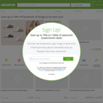15% off Health & Beauty, Services and Goods, 10% off Things to Do & Travel, 5% off Food & Drink at Groupon
