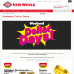 New World Weekend Dollar Days (North Island stores only)