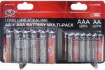SCA Alkaline Batteries Multi Pack - AA+AAA, 24 Piece $2 @ Supercheap Auto