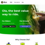 50% off Rides for 14 Days with Ola (New Users)