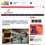 Free Weekend Rides For Children On Auckland's Public Transport