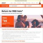 Jetstar Return for Free Sale: Auckland Return to Melbourne/Gold Coast $179, Rarotonga $189   Wellington - Gold Coast $149